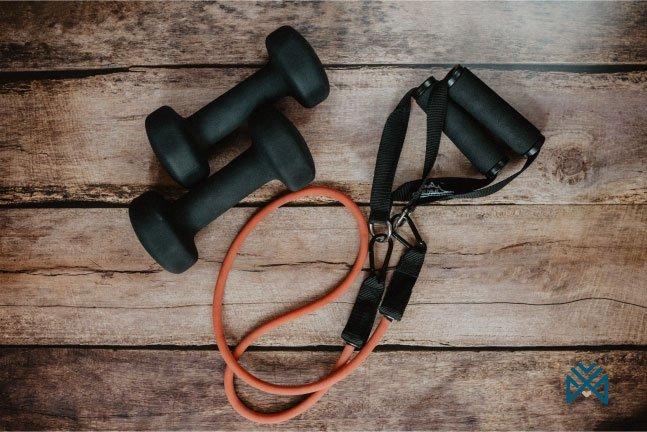 الأدوات الرياضية للتمرين المنزلي